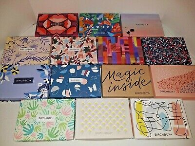 (14) Birchbox Empty Decorative Boxes  Storage, Crafts, Gifts Excellent Condition