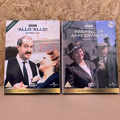 Vintage Comedy DVD -Keeping Up Appearances Series 1 & 2 / Allo Allo Series 1 & 2