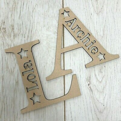 Personalised wooden MDF letter with name - ANY LETTER & NAME - Craft Blank
