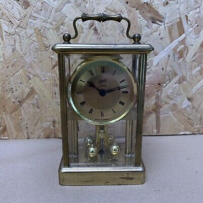 Vintage Schatz Brass Carriage Clock - Spares or Repair - Wedding Prop - 12.5cm