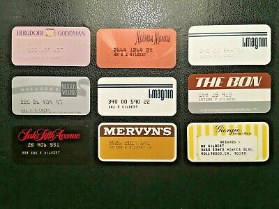 Vintage / Collectible Department Store Charge Cards / Pre-1979 / !Rare! On Sale!
