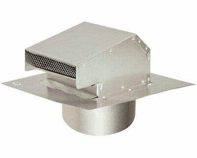 "Aluminum Roof Vent With Tail Pipe 4"" Duct DARC4T"