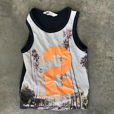 H&M 2 Kids Boys Girls Childrens Tank Shirt 6-8Y 6 7 8