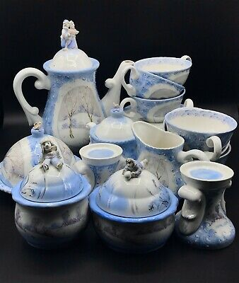 Russian tea and Pancakes set Huge Kettle for 6 person 27pc 1999 year handmade