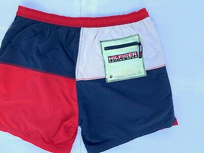 Tommy hilfiger Costume Vintage Uomo Size Xl shorts pantaloncino sailing gear