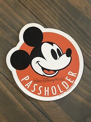 Mickey Mouse Walt Disney World Annual Passholder Orange Car Magnet Free Shipping