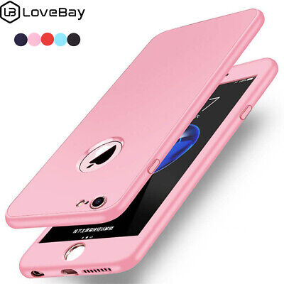Thin Shockproof Hybrid 360 TPU Gel Cover Case For Apple iPhone X 8 7 Plus XS MAX