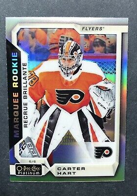 2018-19 O Pee Chee Platinum Marquee Rookie Rainbow #199 Carter Hart OPC RC SP