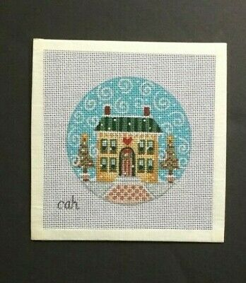 cah Hand-painted Needlepoint Canvas Christmas Ornaments/Select From 11 Designs