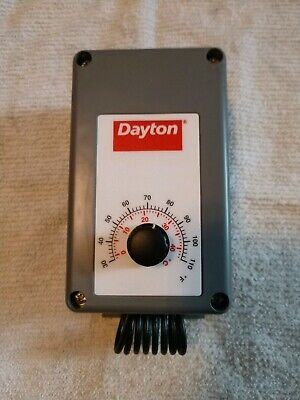 Dayton 4LZ94 Agricultural Thermostat brand new. Gray