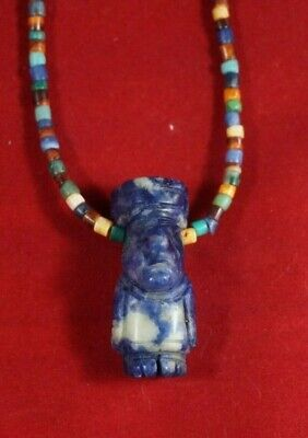 Peruvian pre-Columbian style necklace made with sodalite stones - Idol