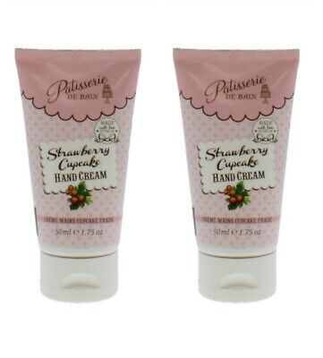 2 X Patisserie De Bain Hand Cream Strawberry Cupcake 50Ml
