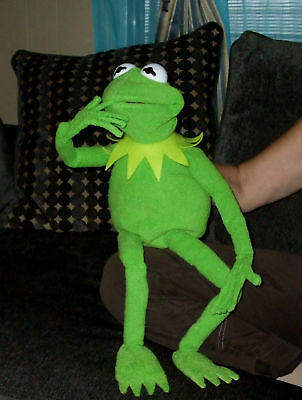 "JIM HENSON PROFFESIONAL 28""  KERMIT THE FROG FULL HAND PUPPET WITH  wired Hands"