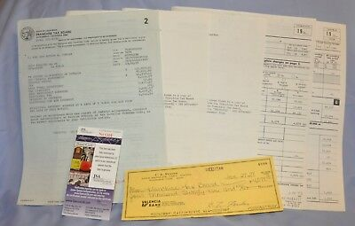 Leo Fender Inventor Signed 1978 Check w/ 5-Page Tax Papers JSA Certificate COA