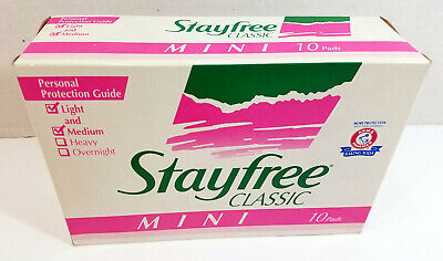 Vintage 1993 Stayfree Classic Mini Panty Liner Maxi Pads 10 TV Movie Prop Sealed