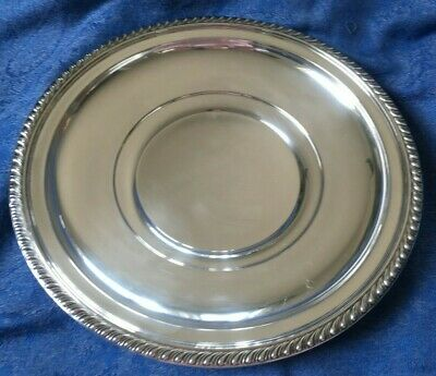 "10"" & 8.3  oz Gadroonette  Manchester Sterling Silver Plate Gadroon Edge 973M"