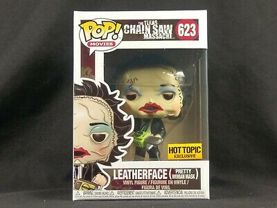 Leatherface Pretty Woman Mask Funko Pop Vinyl Hot Topic Exclusive TCM Horror Box