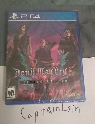 Devil May Cry 5 Deluxe Edition, Playstation 4 Brand New, Factory Sealed, Rare