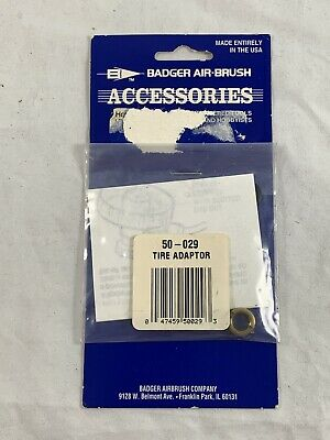 Badger Airbrush Accessories 50-029 Tire Adapter NEW