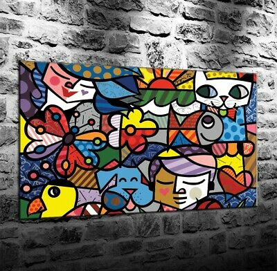 color Britto,Oil Painting HD Print On Canvas Deco Wall,12x18inch/Unframed