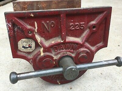 "Vintage DAWN No. 225 Bench VICE, Sidchrome, AUSTRALIA - 9"" Inch Jaws, Excellent"