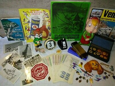 Junk Drawer Lot First Day Issue Canada Military Photos Antique Checkers