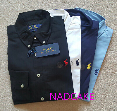 Ralph Lauren Poplin Slim Fit Shirt For Men - Black Blue Navy White