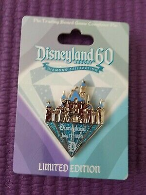 Disneyland 60th Anniversary Pin Trading Board Game Completer Castle Pin LTE 3000