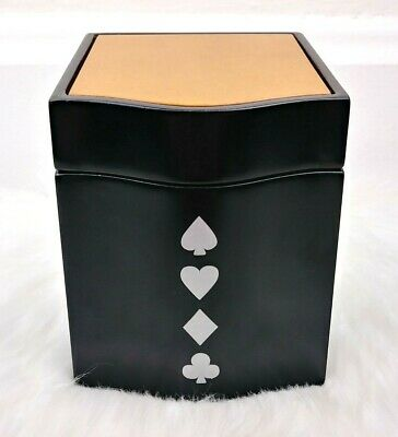 Things Remembered Men's Wood Card Suits Club Spade Heart Diamond Storage Box