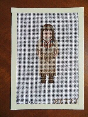 Handpainted Needlepoint Canvas Petei ~ Native American Girl Design 276