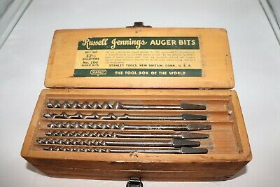 Russell Jennings Stanley Auger Bits Set No.100