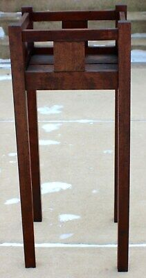 Antique Wood Mission Roycroft Stickley Era Plant Stand Circa 1915 Homemade