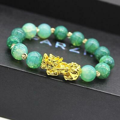 Pixiu Chinese Good Lucky Charm Feng Shui Pi Yao Wealth Bracelets Jade Jewelry