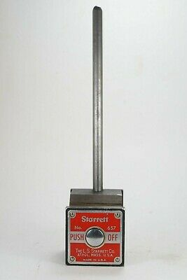 Starrett No.657 Magnetic Base Indicator Holder with Rod
