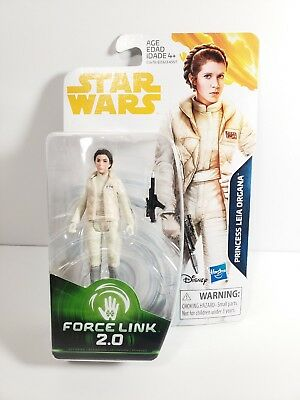 """Star Wars PRINCESS LEIA HOTH GEAR Figure 3.75"""" FORCE LINK 2.0 Carrie Fisher"""
