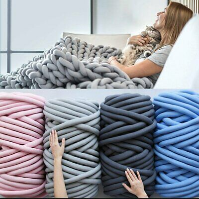 500g Super Thick Bulky Wool Yarn Soft Chunky Hand Knitting Hat Scarf Blanket ld
