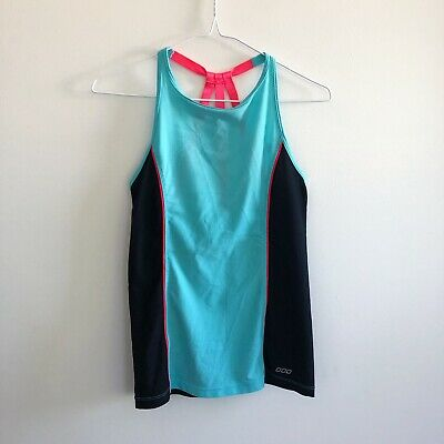 Lorna Jane Active Women's Size S Tank Top Blue and Pink Mesh Sports Active Wear