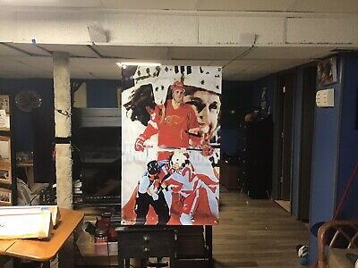 HUGE 45x28 BOB PROBERT vinyl banner POSTER Detroit Red Wings hockey ART Robert .