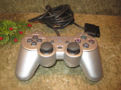 PS2 Controller Genuine Official SONY! OEM SCPH-10010 Analog Playstation (SILVER)