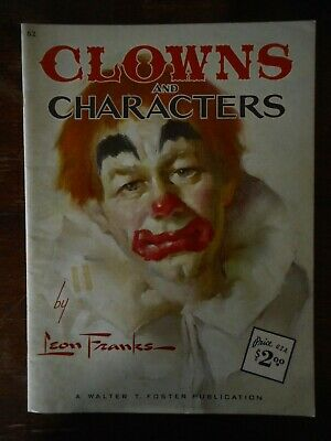 Vintage Walter Foster Art Book Instructions Painting Clowns & Characters