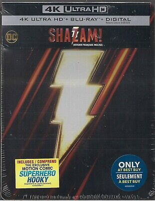 Shazam! (Bilingual) (SteelBook) 4K Ultra HD + Blu-Ray + Digital Code