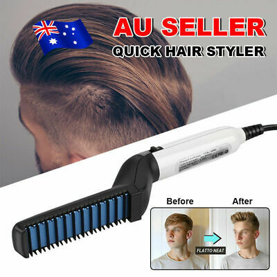 Quick Beard Straightener Multifunctional Hair Comb Curling Curler For Man Show W