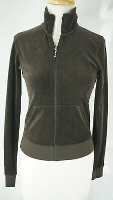 Juicy Couture Brown Velour Terry Jacket Size Small NWT