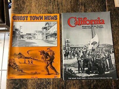 Two 1946 California Magazines Ghost Town News Knotts Berry Farm