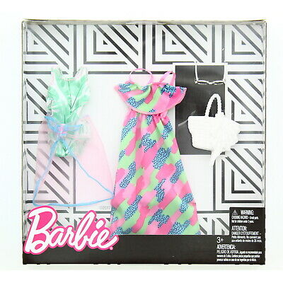 Barbie Doll Fashions Beach Resort 2-Pack Dress Up Outfit Set, FKT27 3+