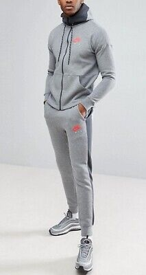 New Mens Nike NSW Air Tracksuit Top Bottoms Fleece Hoodie Jogger Grey