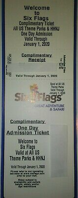 Six Flags Ticket Any US Park Great Adventure Escape America Fiesta Texas Georgia