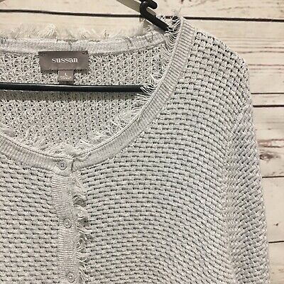 SUSSAN Size L Gorgeous Grey Cardigan Knitwear