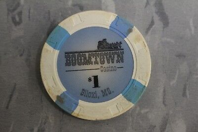$1 Poker Chips By Paulson , Boomtown Casino , Biloxi , Ms