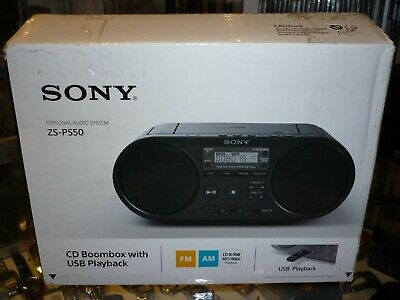 Sony (Zs-Ps50) Cd Boombox With Usb Playback Personal Audio System In Box !